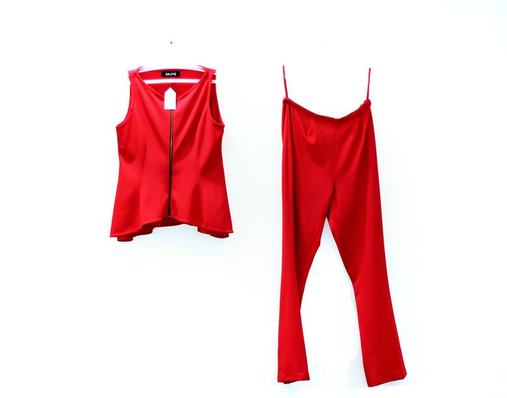 Buy this sleek power set now! On thebrime.com  #sleek #suit #red #lovin  Top: Rs 1000 Pants: Rs 1000