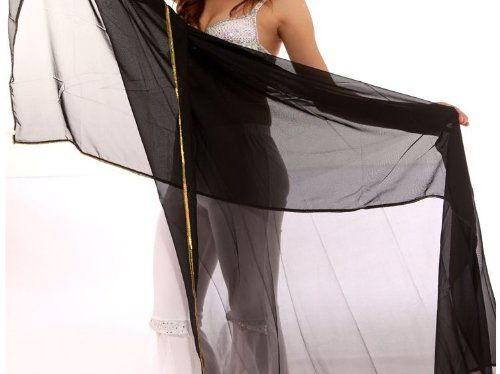 BellyLady Stunning Handmade Chiffon Belly Dance Veil, For Practice $8.99