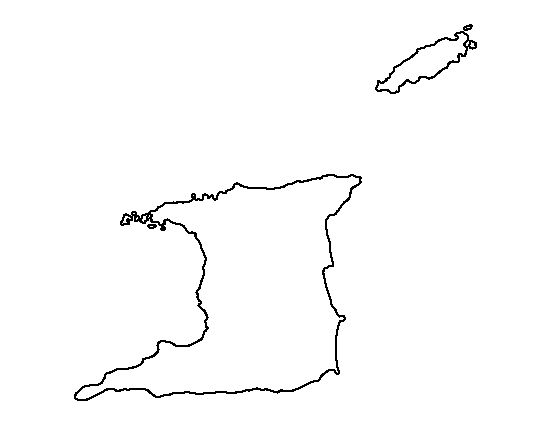 Black and white outline of trinidad and tobago pictures to for Black and white only