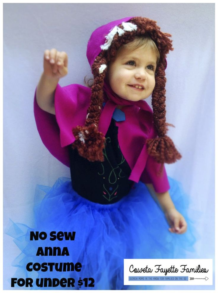 No Sew Anna Costume for under $12 #halloween #frozen