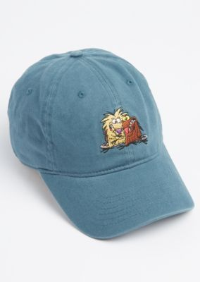 Kick it old school with this fun throwback dad hat. Built from man-made materials, this hat features an embroidered Angry Beavers from the Nickelodeon show.