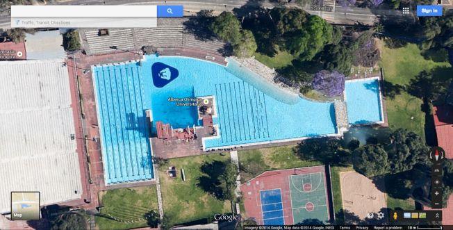 Alberca Olímpica - Arquitectura en la UNAM