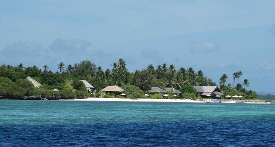 Wakatobi Dive Resort: View towards bungalows from water