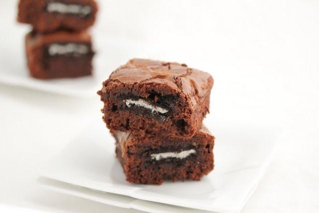 Oreo-stuffed brownies!