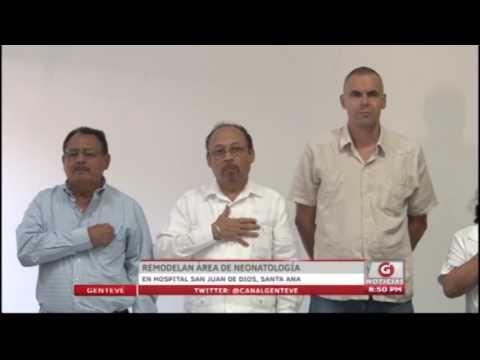Remodelan área de neonatología en hospital San Juan de Dios, Santa Ana - YouTube