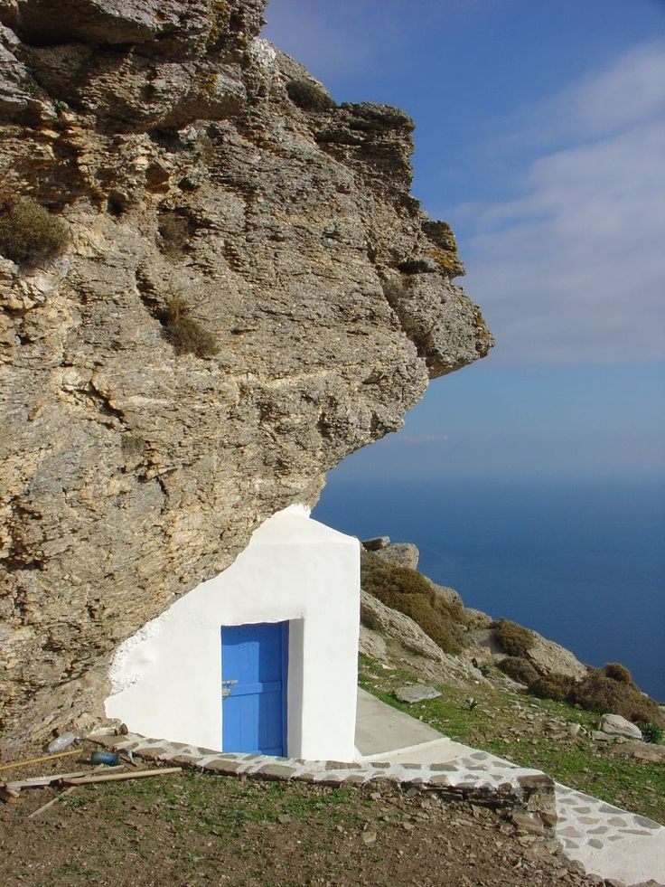 We ❤ Greece | Theoskepasti chapel, Amorgos island #Greece #chapel #travel #destination #explore