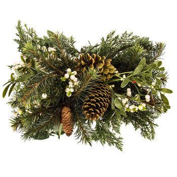 Pine, Eucalyptus, Berry & Pinecone Centerpiece