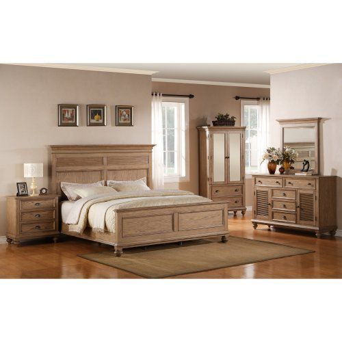 Riverside Furniture Coventry Collection Shutter Panel Bed Set | from hayneedle.com