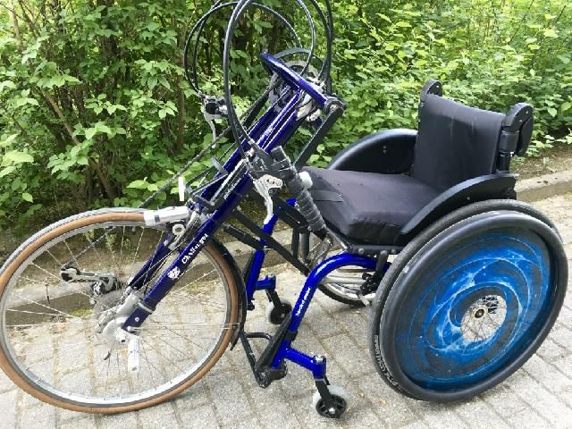 bike mit rollstuhl k schall k4 sb 40 cm celleng bike. Black Bedroom Furniture Sets. Home Design Ideas