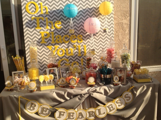 graduation candy bar with chevron detail by