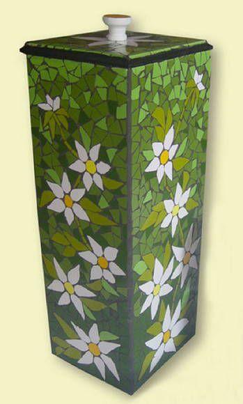 Porta Papel Higiênico Floral Verde