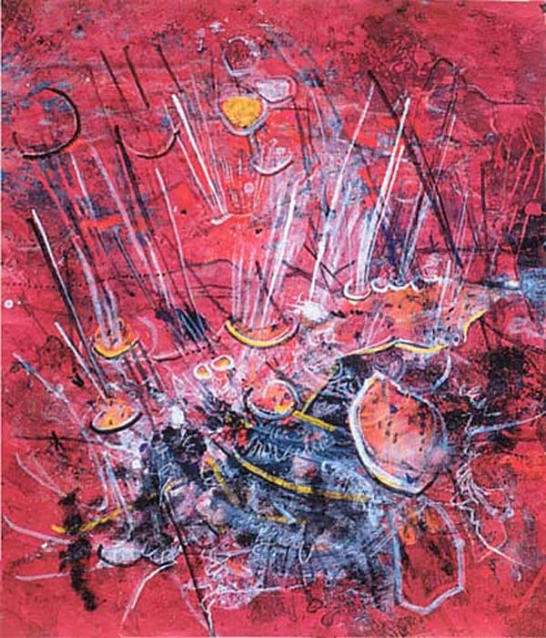 """Banksil Litorale"", by Roberto Matta (1994)  Discover the coolest shows in New York at www.artexperience.com"