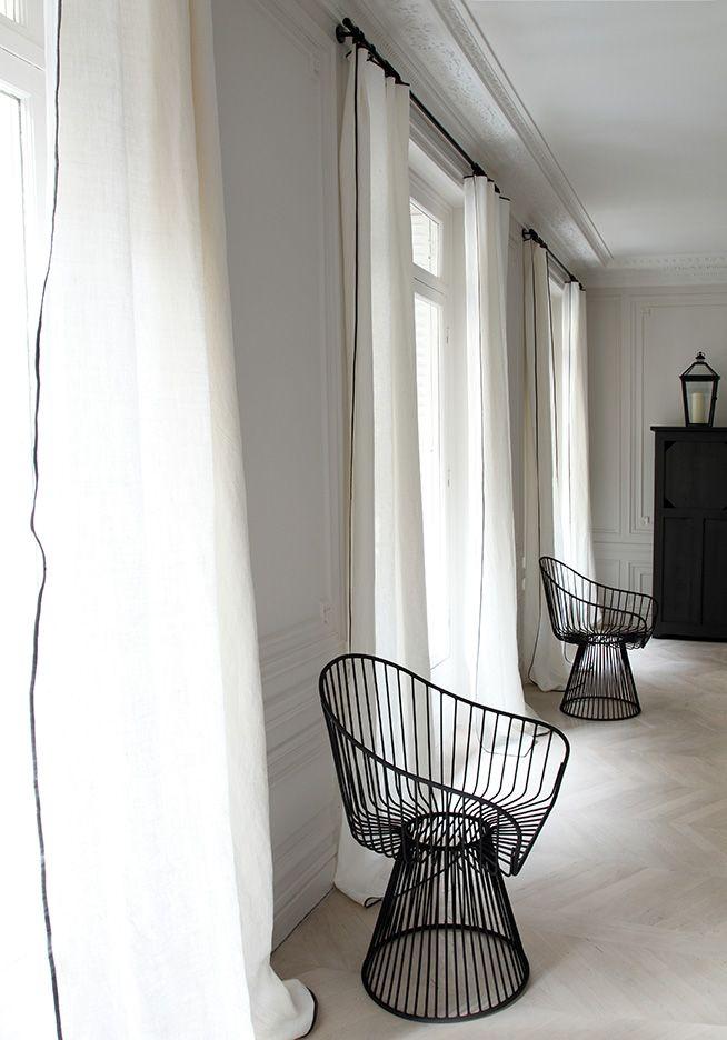 1000 ideas about curtain wire on pinterest room divider - Faire des rideaux avec draps anciens ...