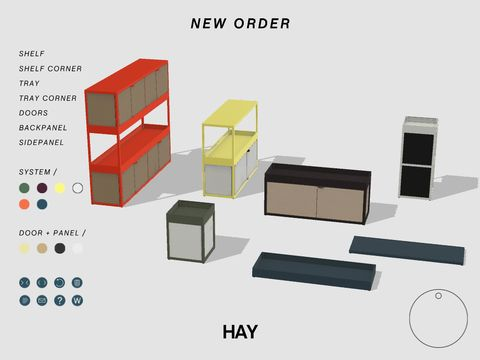 Create your own New Order shelving system with the New Order App. A shelving system so flexible in structure and composition that you can modify it, expand it and customize it in endless variations.