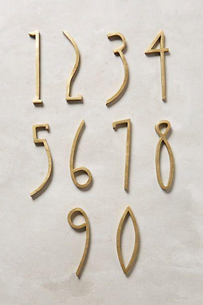 Hand-Welded House Number - anthropologie.com 03 12 11