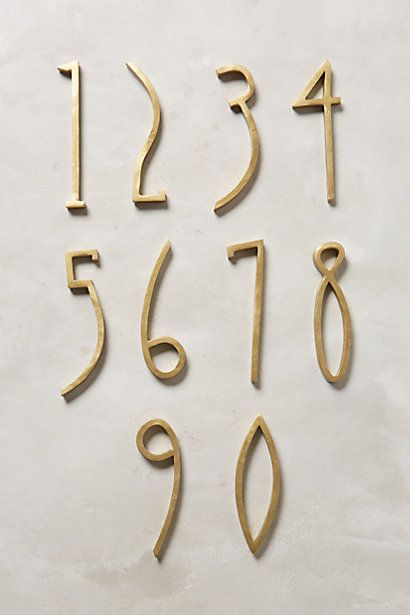 Anthropologie EU Hand-Welded House Number
