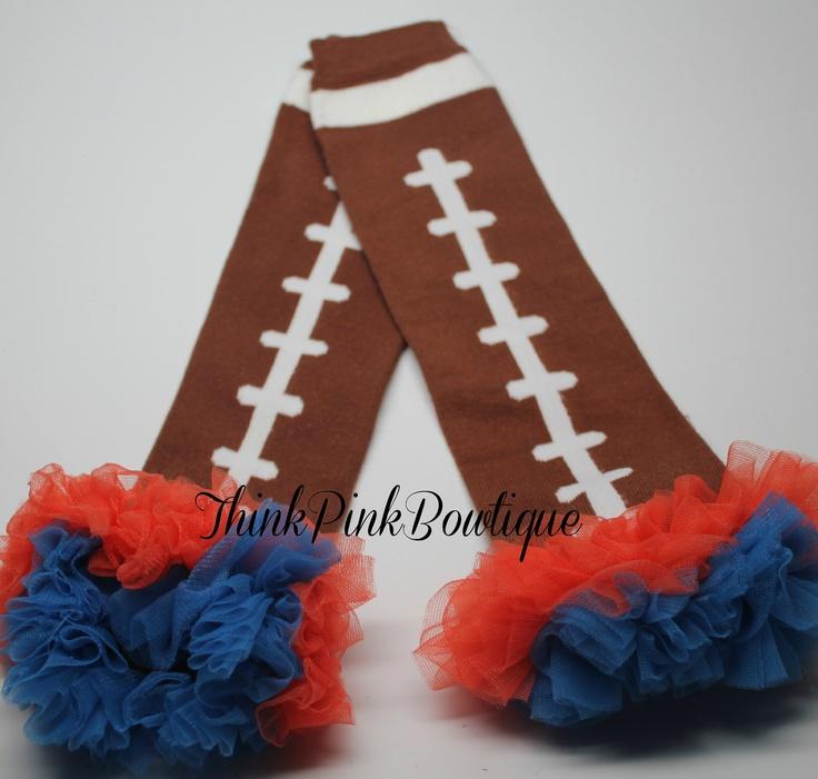 Baby leg warmers  for girls Broncos & Florida Gators Inspired, leg warmers,baby leg warmers. $8.95, via Etsy.