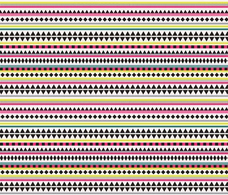 Tablecloth idea: Aztec Bright  fabric by kimsa on Spoonflower - custom fabric