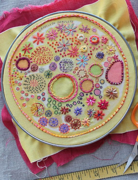 Sunshine Embroidery Sampler by dropcloth on Etsy