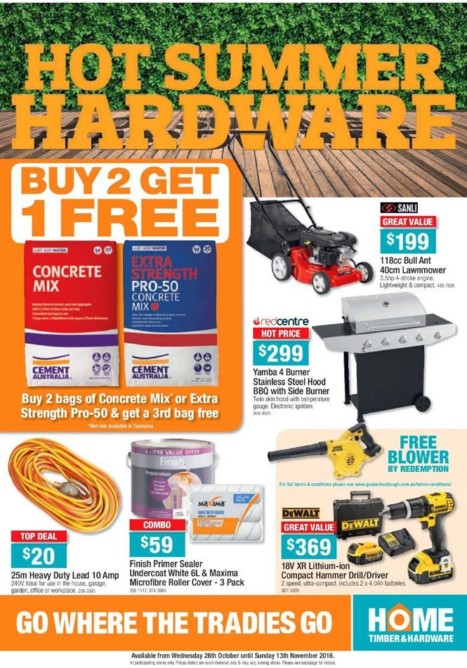 Home Timber & Hardware Catalogue 26 October - 13 November 2016 - http://olcatalogue.com/hh/home-hardware-catalogue.html