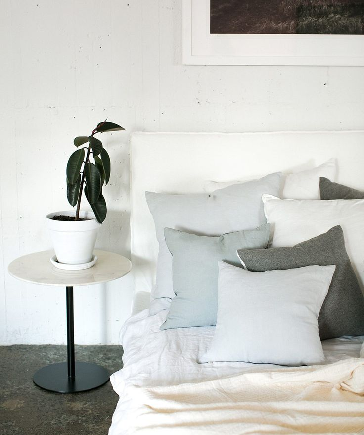 Bring comfort to your home with these Linen and Felted Wool Cushions from Nodi. These are designed to add a quiet layer of character, warmth and depth to your space. | huntingforgeorge.com