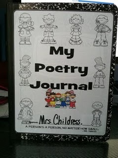 $2.50 My 2nd Grade Poetry Journal