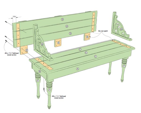 Lowes complete details....An Attractive Bench for Indoors or Outdoors - Lowe's Creative Ideas