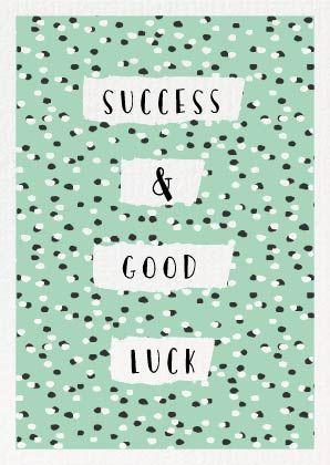 Succes & Good Luck | Mint & Mail  Mint & Mail | Moments Love Paper. Webshop voor alle momenten op papier. Wenskaarten | Trouwkaarten | Geboortekaartjes & Papierwaren.
