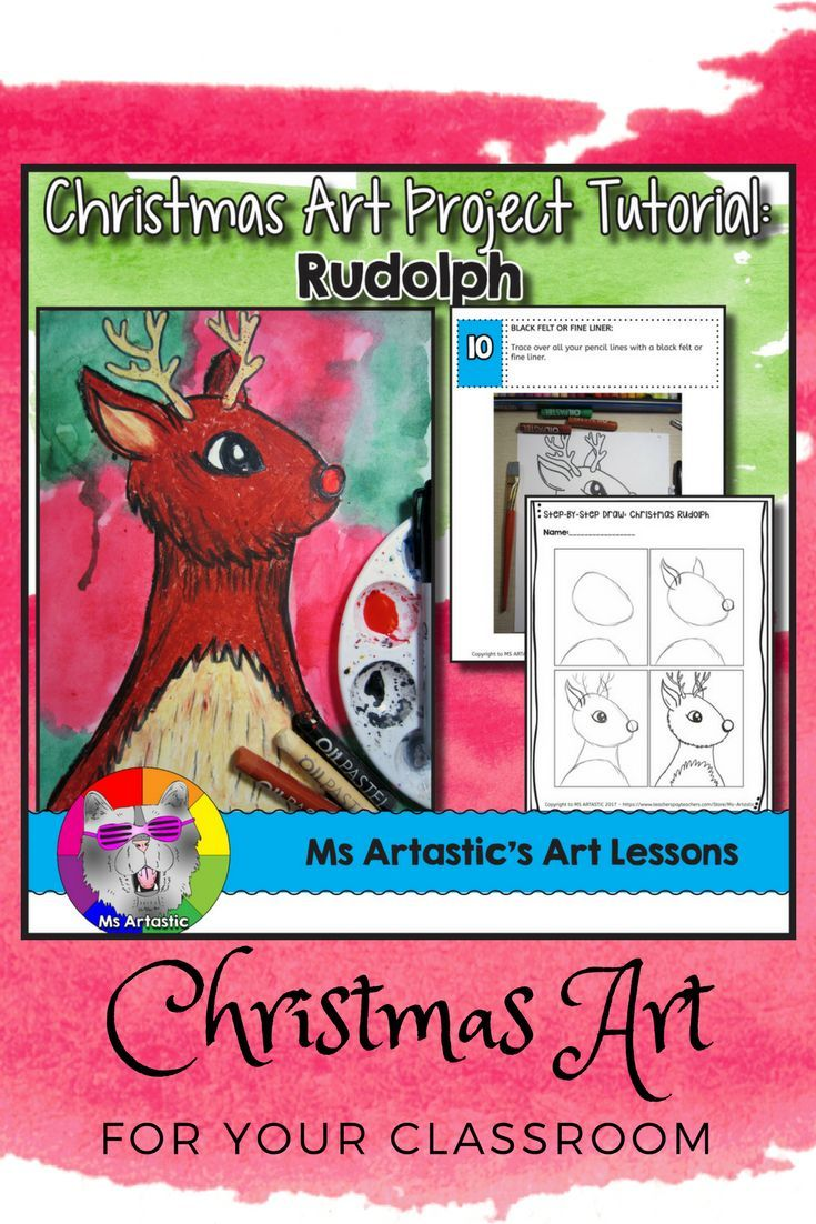 Christmas art inspired by the seasonal favorite, Rudolph! Use oil pastel and paint to create a reindeer art project with your students. This is a great way to keep them engaged as the days tick closer to Christmas.This product is complete with a visual and text step-by-step (each step on its own page with description), a rubric for marking, a lesson plan, a finished example, and a step-by-step drawing handout to allow your students to create this piece successfully!