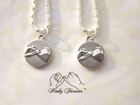 Pinky Promise Necklace for Couples, Boyfriend Girlfriend or Best Friends >>>>>> THE ORIGINAL PINKY PROMISE CHARM NECKLACES <<<<<<< I am proud