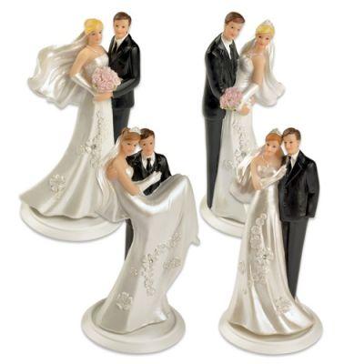 #2530 Polyresin wedding couple top on basis, small, 4 versions