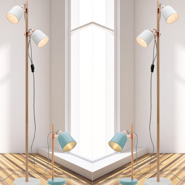 Cuba table lamp and Cuba floor lamp available in duck egg and white at www.bitolalighting.com.au