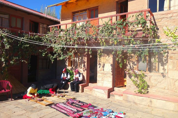 Taquile Island- guesthouse textile weaving shopping