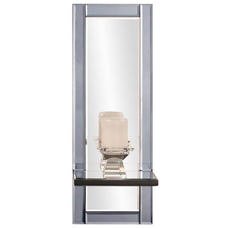 Elizabeth Austin Emerson Modern Wall Mirror with Shelf - 9W x 24H in. - 99039