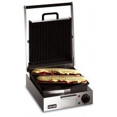 Lincat LPG Plug-in Electric Contact / Panini Grill Ribbed top & bottom - Commercial Catering Equipment
