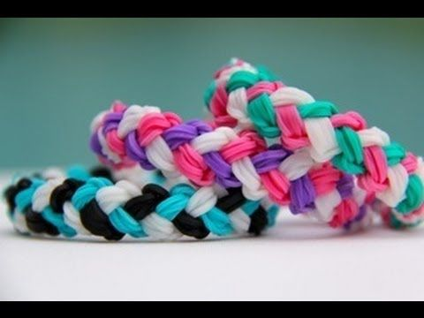 Rainbow Loom Double Braid Bracelet - Armband - Loom bands