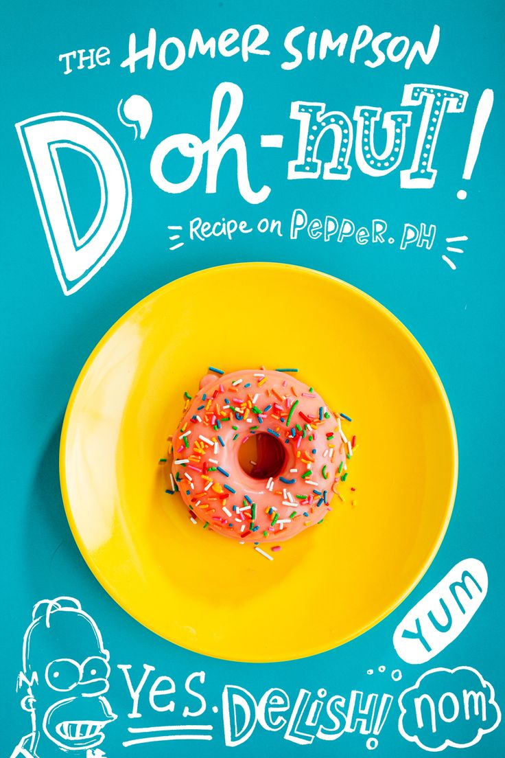 We have to try this Homer Simpson donut recipe! #TheSimpsons