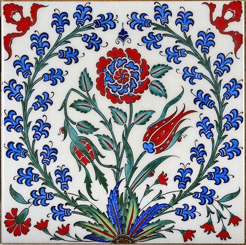 Traditional Turkish Iznik Tile