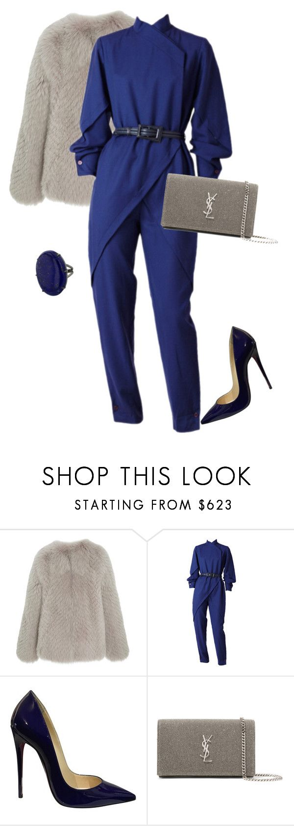 """outfit 7595"" by natalyag ❤ liked on Polyvore featuring Christian Louboutin, Yves Saint Laurent and jumpsuits"