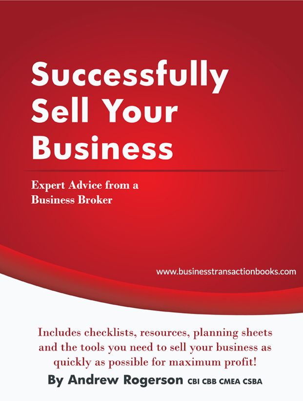 Selling a business is a complex and emotional process. You can improve your chances of success with knowledge and preparation. Our book arms you with the tools you need to navigate through the transaction and successfully sell your business. http://www.rogersonbusinessservices.com/successfully-sell-your-business/