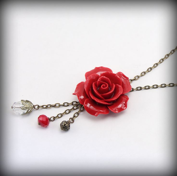 Ilookia - collier églantine rouge ********