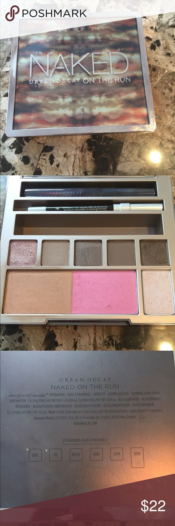 Urban Decay on the run palette Very lightly used. New mascara and eyeliner unused. Lip gloss is missing. Disinfected. Makeup Eyeshadow