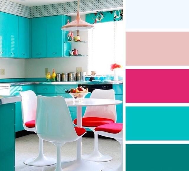 ¡Combinaciones de colores para tu cocina!