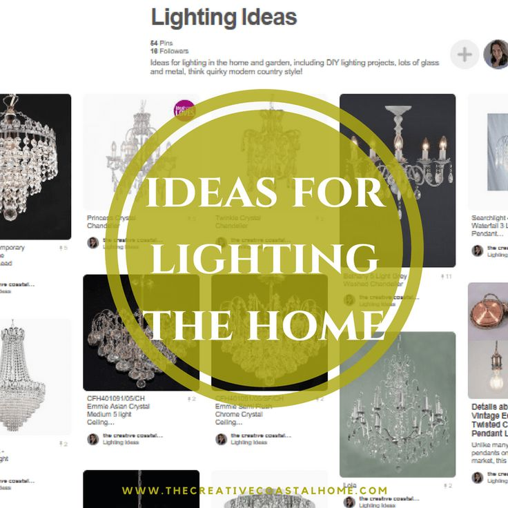 Ideas for the fixed lights in the home: think crystals, glass, metal, silver - quirky modern country style!