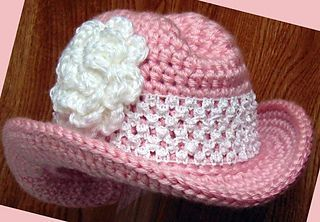 Cowgirl Hat PDF Crochet Pattern by Easy Creations on Ravelry.