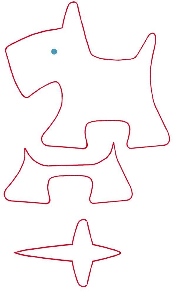 Мягкая игрушка своими руками с выкройкой – собачка из фетра 2