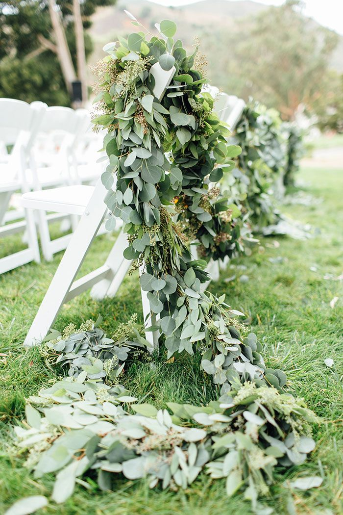 Aisle decor (Florals: Loop Flowers (Anna) - Nicole and Eric's Wedding at Cavallo Point Lodge by Stacey Dillion, Stacey & Co (Event Planning), Faustine Thomas (On-site Coordinator) + Stephanie Fishbein Photography - via Grey likes weddings