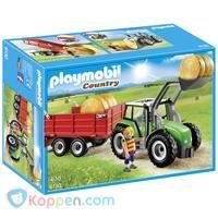 PLAYMOBIL 6130 Tractor met aanhangwagen -  Koppen.com