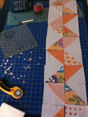 Zig Zag Qult with half square triangles -- would also make a great border!