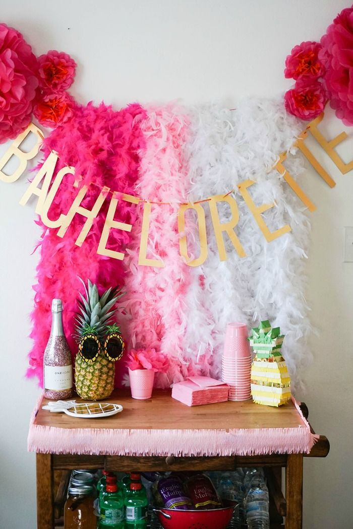 So many cute decorations at this bachelorette party!